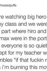 Watching Big Hero 6