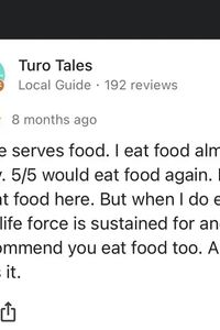 Eat food = Always Good